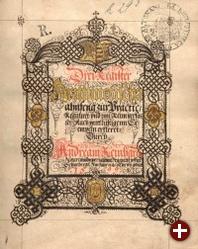 Andreas Reinhard: Rechenbuch. Manuskript 1599, Ex Bibliotheca Gymnasii Altonani