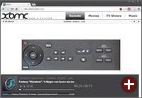 Remote-Steuerung im Browser: Zur Not lässt sich das XBMC mit jedem Gerät bedienen, das einen Browser mitbringt. Tablet- oder Smartphone-Apps bieten mehr Komfort