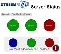 Replikations-Statusseite von XtreemFS 1.5