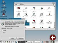 KDE 3 mit dem geöffneten Control Panel