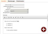 Rich Text Editor für Artikelbeschreibungen in Kivitendo 3.2