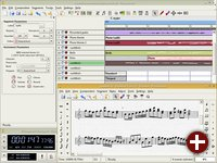 Der MIDI/WAV Sequencer und Noteneditor Rosegarden-4