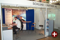 Schlund und Partner, Sponsoren der Open-Source-Stände, waren wie Web.de auf der Suche nach neuen Mitarbeitern.