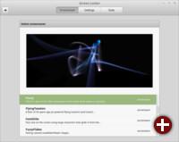 Screensaver-Einstellungen von Linux Mint 17.2