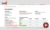 invis Portal, die als Web-Applikation ausgeführte Schnittstelle zwischen Benutzer und invis-Server