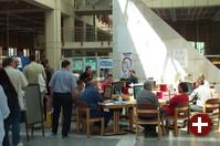 SkoleLinux mit viel Platz in der Kongresshalle