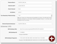 Beispiel eines Software-Kanals für CentOS 6 64 Bit