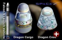 SpaceX: Falcon, Dragon als Frachtschiff und Dragon als bemanntes Raumschiff