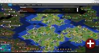 Spielszene aus FreeCiv-Web 2.5 mit dem Regelsatz »Brazilian«