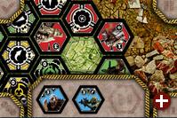 Spielszene aus Neuroshima Hex