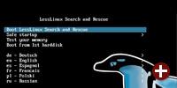 Bootmenü der Lesslinux-Live-DVD