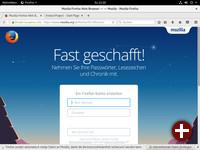 Startseite von Firefox 50