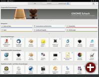 Startseite von Gnome-Software