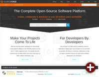 Startseite von SourceForge