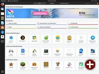 Startseite von Ubuntu Software