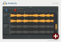 Studie für eine überarbeitete Oberfläche von Audacity