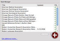 Style Manager in Zotero 2.0
