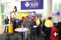 Sun zeigte sowohl Hardware als auch das ganze Software-Portfolio