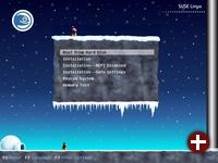 Der winterliche Bootscreen von SUSE Linux 10