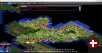 Szene aus einem Web-Spiel mit FreeCiv 2.5