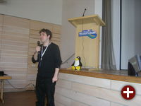 Heinz-Markus Gräsing beim Vortrag