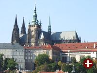 Teil der Burg mit der St.-Veits-Kathedrale