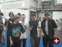 Teil des Pro-Linux-Teams: Wolfgang, Rene, Andreas, Benjamin und Michael (v.l.n.r.).