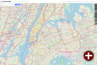Teil von New York in OpenStreetMap