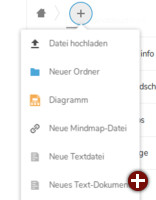 Text anlegen in Nextcloud Text