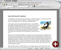 Textmaker mit simplem Dokument