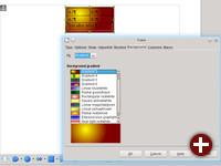 Textrahmen in LibreOffice 4.1 Writer können einen Gradienten als Hintergrund haben