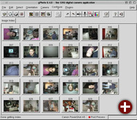 Thumbnail-Index der Kamera