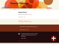 Twenty Thirteen ist das neue Standard-Theme in Wordpress 3.6