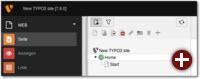 Großaufnahme des Symbols zum Erstellen einer neuen Seite