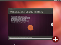Ubuntu installiert sich