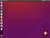 Ubuntu-Schreibtisch (Unity-Übersichtsseite)