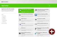 UCS-umc-app-center: Die Farbkennung der einzelnen Kategorien zieht sich durch sämtliche zugehörigen Module