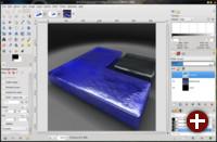 Unter Gimp kann in der neuen Version entweder in einem Ein-Fenster-Modus...