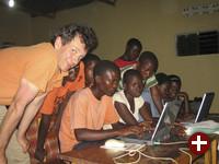 Unterricht an Laptops