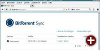 Verwaltung von Bittorrent Sync