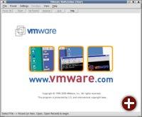 Der Startbildschirm von VMWare