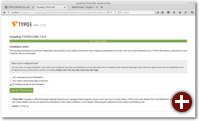 Vorkonfigurierte Distribution oder leere Seite erstellen