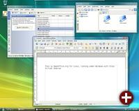 Amarok, Konqueror und OpenOffice.org unter Windows
