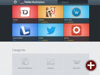 Webauftritt des Firefox Marketplace