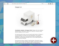 Webbrowser Epiphany in Gnome 3.30