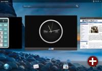 In der Übersicht zeigt WebOS die gerade gestarteten Anwendungen