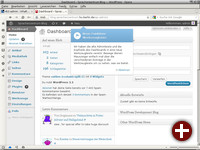 Backend von Wordpress 3.3