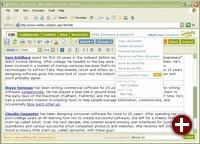 Die kostenlose Online-Textverarbeitung Writely