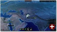 Auf der Taktikkarte werden Untersuchungen angestellt und Missionen gestartet
