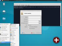 Xfce-Desktop bei UbuntuBSD
